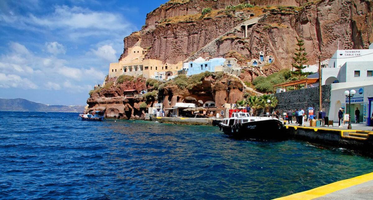 Fira old port Santorini